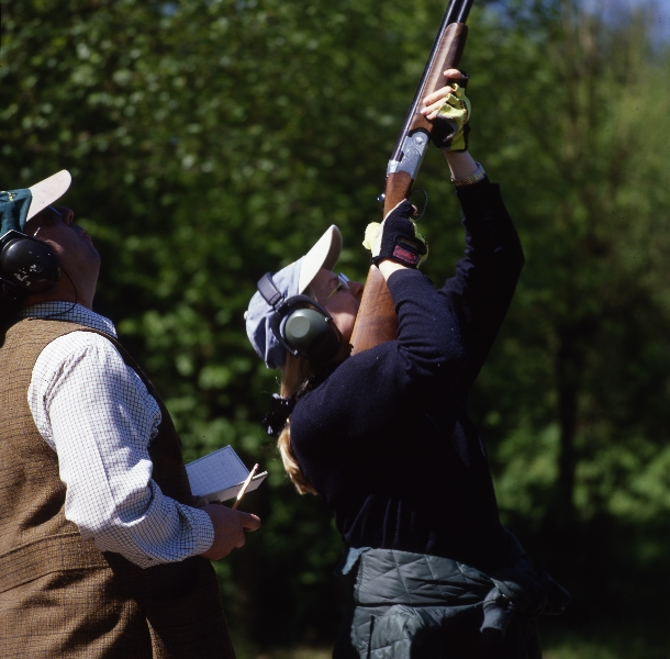 Clay shooting with a Holland & Holland